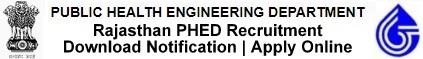 Rajasthan PHED Recruitment Notification