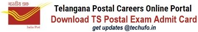 Telangana Postal Circle Hall Ticket Download