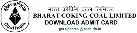 BCCL Admit Card and Exam Date Details