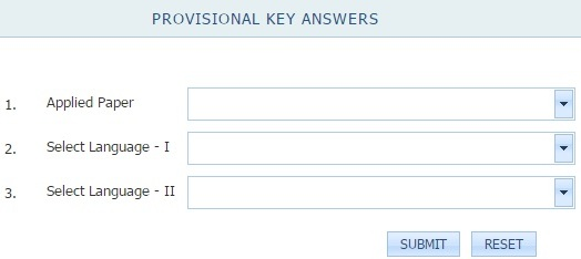KARTET Answer Key Download Format