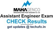 MAHAGENCO Assistant Engineer Result Cut off Marks 2017