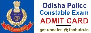 Odisha Police Constable Exam Admit Card Download
