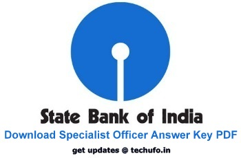 SBI Specialist Officer Answer Key
