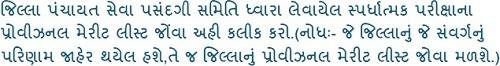 Gujarat Talati Provisional Merit List