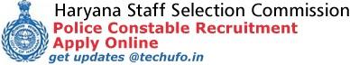 Haryana SSC Police Recruitment