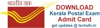 Kerala Postal Exam Date and Admit Card