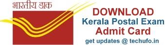 Kerala Postal Exam Date and Admit Card