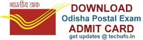 Odisha Postal Exam Admit Card