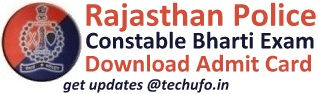 Rajasthan Police Constable Admit Card & Exam Date