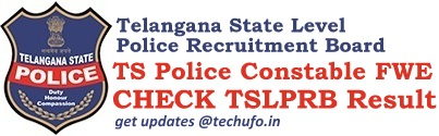 TSLPRB Telangana Police Constable FWE Result Cut Off Marks Merit List