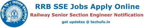 RRB Senior Section Engineer Recruitment