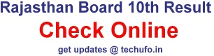 Rajasthan Board 10th Result