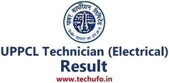 UPPCL Technician Result UP Energy TG2 Electrical Merit List Uttar Pradesh Power TG II Cutoff Marks