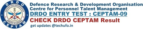 DRDO CEPTAM 9 Result Cut off Marks Merit List Download