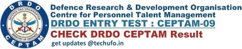 DRDO CEPTAM 9 Result Cut off Marks Merit List Download