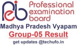 MP Vyapam Group 5 Result MPPEB Pharmacist Lab Technician Cutoff Marks & Merit List