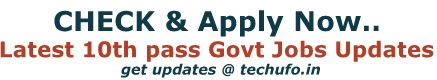 10th pass Government Jobs