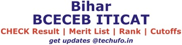 Bihar ITICAT Result Merit List Rank Card