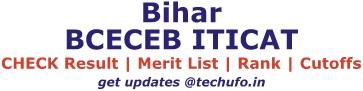 Bihar ITICAT Result Merit List Rank Card