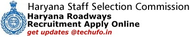 Haryana Roadways Recruitment 2019 Notification & Online Application Form