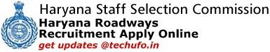 Haryana State Transport Recruitment Notification Haryana Roadways Driver Conductor Vacancies HSSC Online Application Form