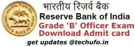 RBI Admit Card Download