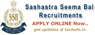 SSB Recruitment 2018 Notification & Application Form