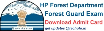 HP Forest Guard Exam Admit Card Download