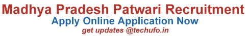MP Patwari Recruitment Notification