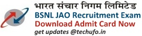BSNL JAO (Junior Accounts Officer) Admit Card Call Letter Download