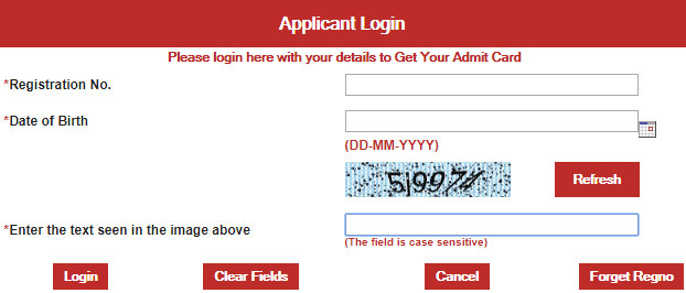 Andhra Pradesh Postal Candidate Login for Admit Card
