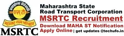 MSRTC Recruitment Notification ST Mahamandal Bharti Apply Online Application Form