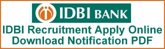 IDBI Bank Recruitment Executive Posts Latest Notification Apply Online Application Form