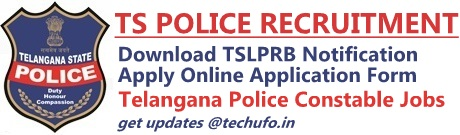 Telangana Police Recruitment TSLPRB Notification TS Police Constable SI Online Application Form