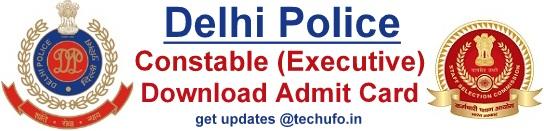 Delhi Police Constable Admit Card Download SSC DP Hall Ticket