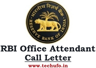RBI Office Attendant Admit Card Call Letter Hall Ticket Download