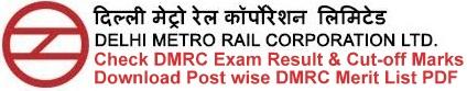 DMRC Result Cut off Marks