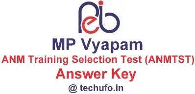 MP Vyapam ANM Answer Key Download MPPEB ANMTST Paper Solution Sheet