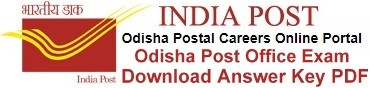 Odisha Postal Circle Answer Key Download DF
