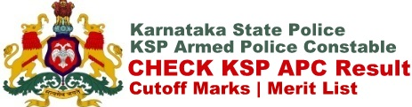 KSP Armed Police Constable Result Cut off Marks Merit List Download