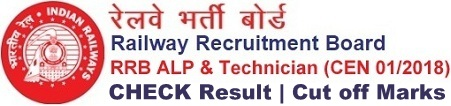 RRB ALP Technician Result Cut off Marks Merit List