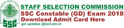 SSC Constable GD Admit Card Download