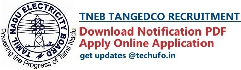 TNEB TANGEDCO Recruitment Notification and Online Application Form