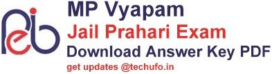 MP Vyapam Jail Prahari Answer Key Download MPPEB Jail Dept Exam Solution Paper PDFs