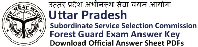 UPSSSB Forest Guard Answer Key 2018 Download PDF