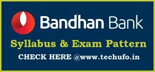 Bandhan Bank Exam Syllabus Pattern