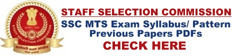 SSC MTS Syllabus Download Multi Tasking Staff Exam Pattern & Previous Papers PDFs