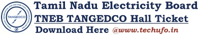 TNEB TANGEDCO Admit Card Download Assistant Engineer AE Hall Ticket