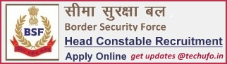 BSF Head Constable Recruitment Notification HC (RO & RM) Online Application Form