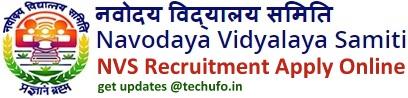 NVS Recruitment Notification Navodaya Vidyalaya Samiti Apply Online
